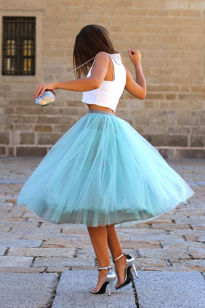 Aliexpress.com : Buy Multi Layered Tulle Skirt A Line Mid Calf ...