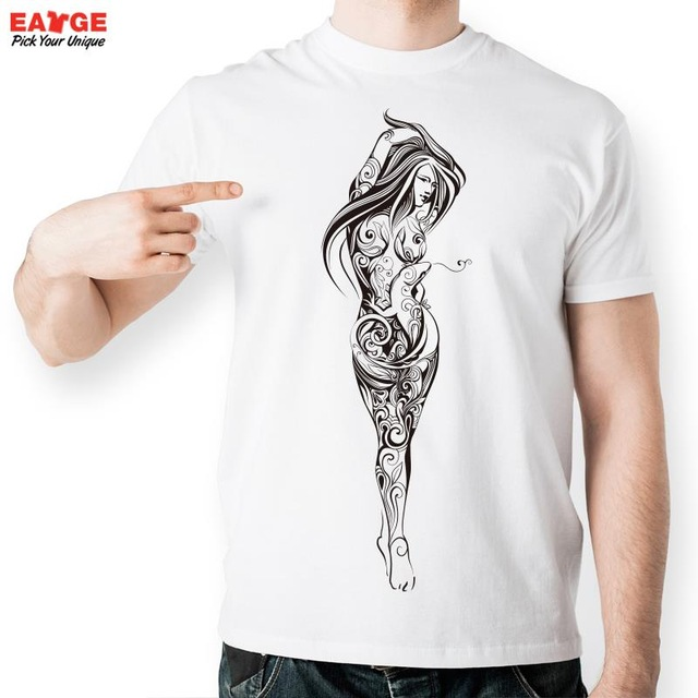 Strip Naked Girl T Shirt Design Inspired By Fashion Sexy Tattoo T-shirt  Cool Casual Novelty Tshirt Unisex Printed Style Tee