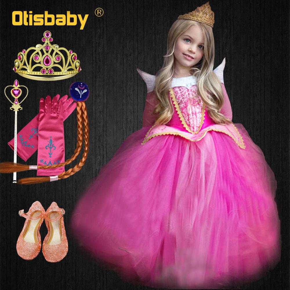 Summer Kids Pageant Girls Aurora Costume Children Girl
