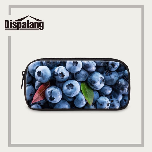 Dispalang organizer cosmetic case fruit candy print pencil cases for kids student pencil bag office school supplies pen pouch