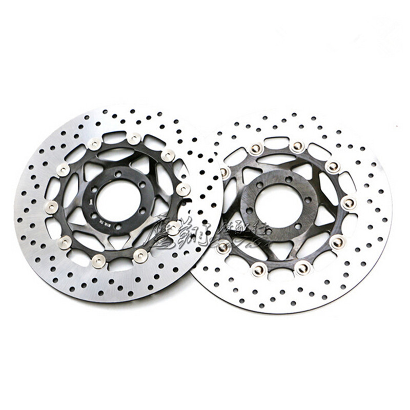 1 Pair Motorcycle Front Brake Disc Rotor For Yamaha FZR400RR 3TJ1 1WG 90 92 FZR400 RR