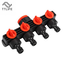 4 Way Garden Hose Pipe Splitter ABS Plastic Drip Irrigation Watering Agricultural Tap Connectors Garden Tap Irrigation garden water connectors palisad 66425 splitter plastic round tap connectors