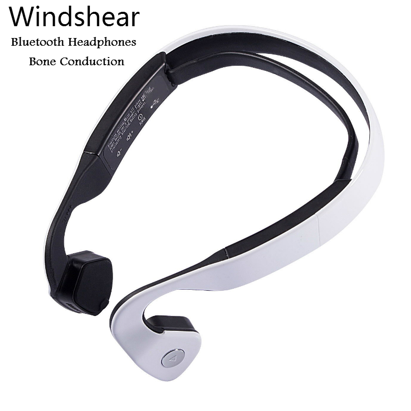 S.Wear Windshear Bluetooth Bone Conduction Headphone Wireless Sports Stereo Headset With Mic For Iphone Xiaomi Neckband Earphone new dacom carkit mini bluetooth headset wireless earphone mic with usb car charger for iphone airpods android huawei smartphone