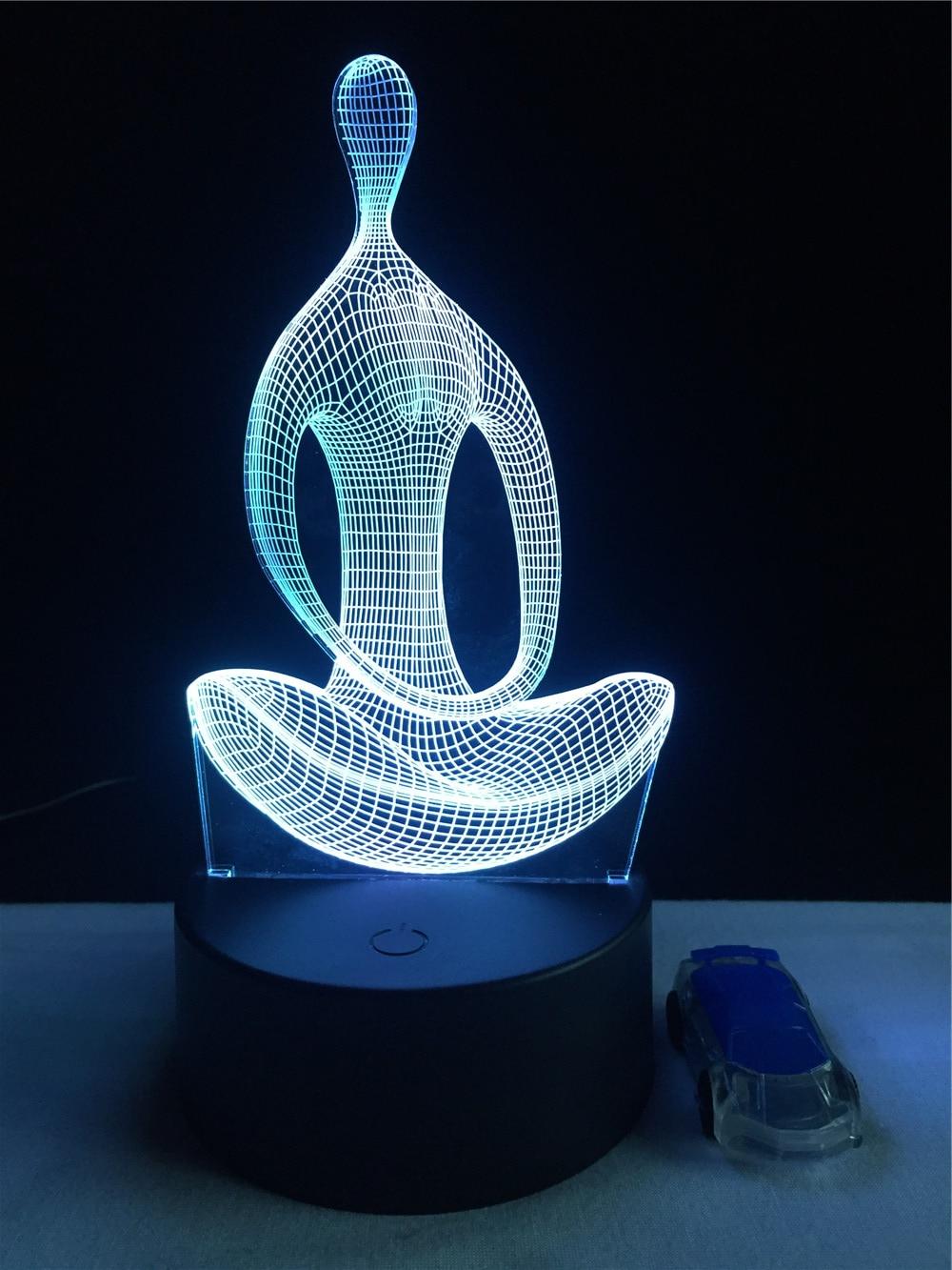 Luzes da Noite 3d 7 mudando a cor Function 3 : Stage Lighting Effect/wedding Decor/house Decoration
