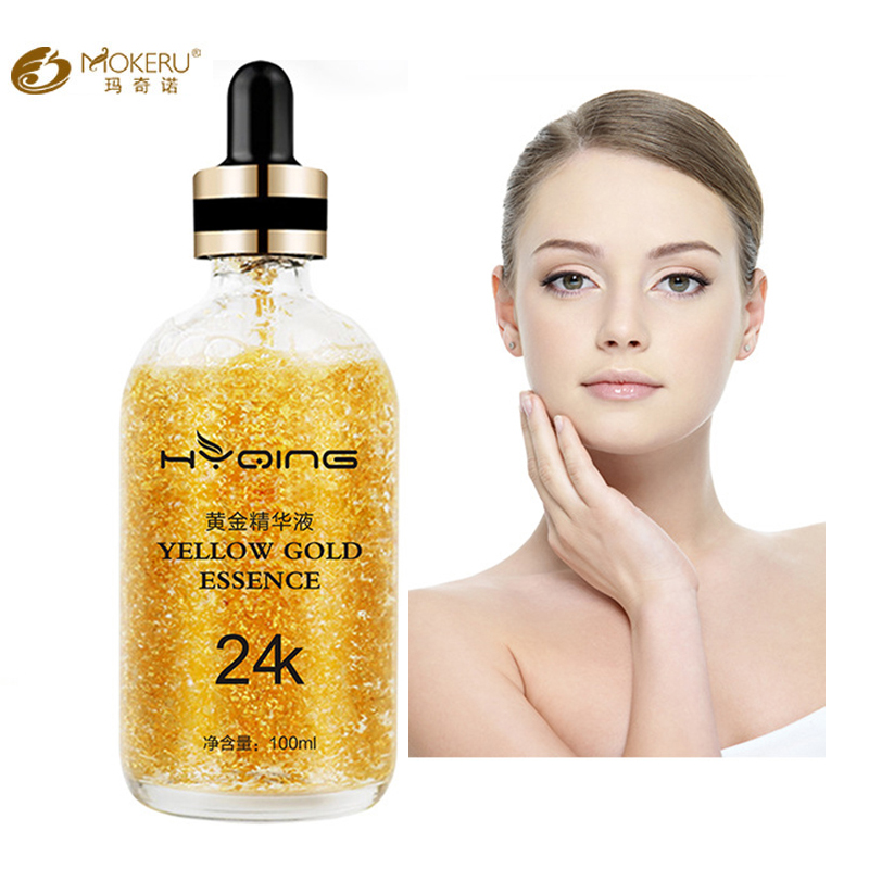 1pc Premium Anti Aging Serum 24k Gold Pure Hyaluronic Acid Serum Whitening Moisturizing Essence 24K Gold Serum For Face