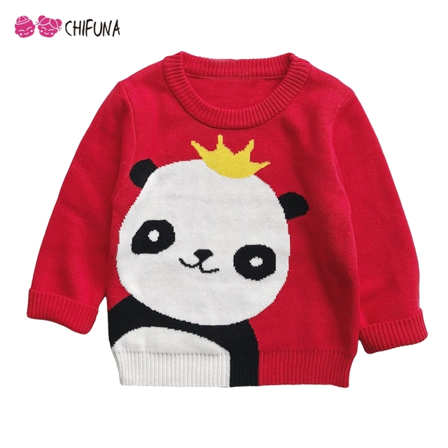 Chifuna Girls Sweater 2018 New Baby Boy Sweater Kids Knitted Cute