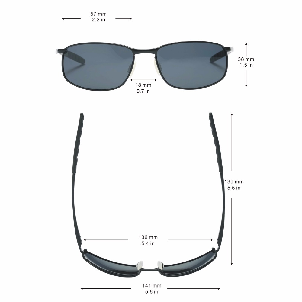 ce5316ea91 8 base Curve Wrap Rectangular Metal Frame Polarized Sunglasses with Case  for Men Driving Eyewear-in Sunglasses from Apparel Accessories on  Aliexpress.com ...