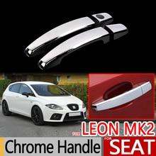 Для Seat Leon MK2 2005-2012 1P хромированные дверные ручки крышки автомобильные аксессуары наклейки стайлинга автомобилей 2006 2007 2008 2009 2010 FR