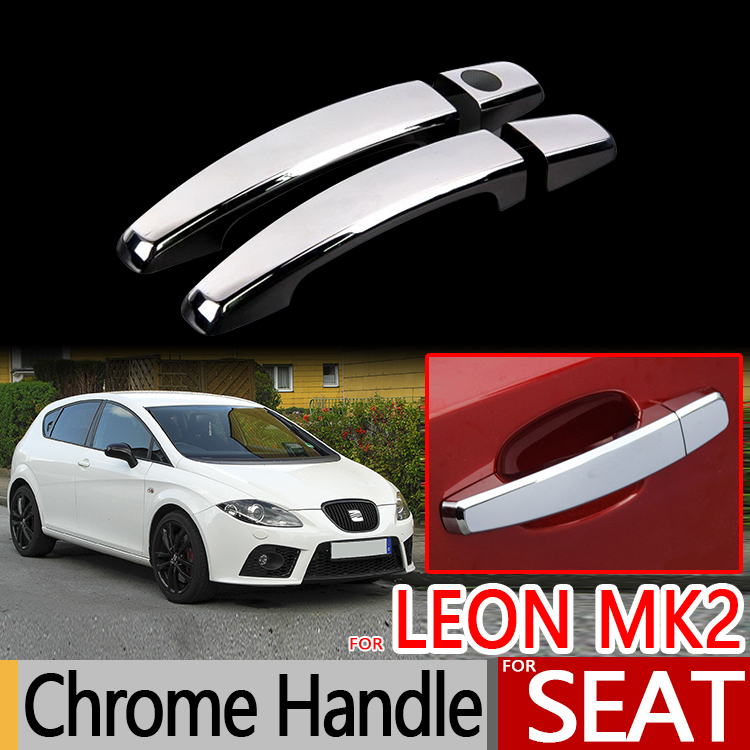 For Seat Leon MK2 2005-2012 1P Chrome Door Handles Covers Car Accessories Stickers Car Styling 2006 2007 2008 2009 2010 FR FR+ for hp 4100 feed roll wheel page 3 href page 5