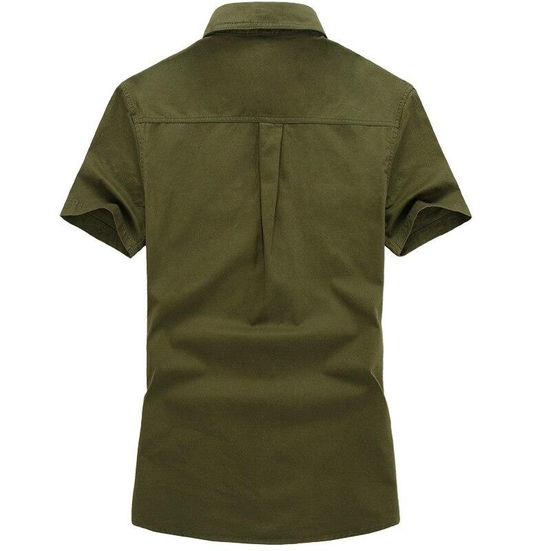 DIMUSI Summer Mens Shirts Male Army Military Camouflage Short Sleeve Cotton Shirts Men Business Shirt Brand Clothing 6XL,TA090 3