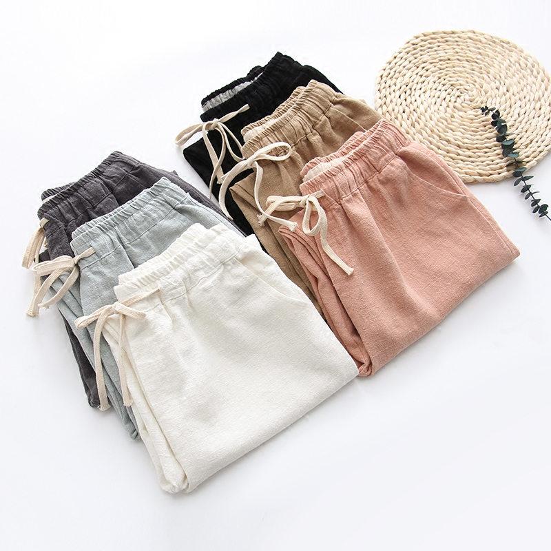femininas cordão calças Primavera 8