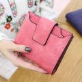 New brand Clutch Wallet 2016 fashion Multifuctional Women Purse short Ladies Nubuck leather money clip