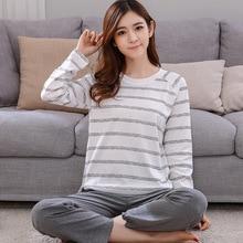 New Long Sleeve Sleepwear Cute Cartoon Women Clothing Two Piece Set Sleep Lounge Round Neck Casual Pajama Set Leisure Home Cloth
