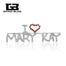"""Mary Kay  Theme Brooch Jewelry&Gift """"I LOVE MARY KAY"""" Word Pin"""