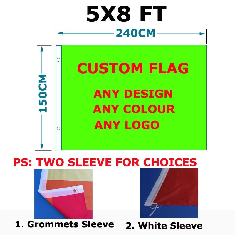 aerlxemrbrae Custom vlag 150X240cm (5x8FT) Polyester goedkope prijs - Huisdecoratie