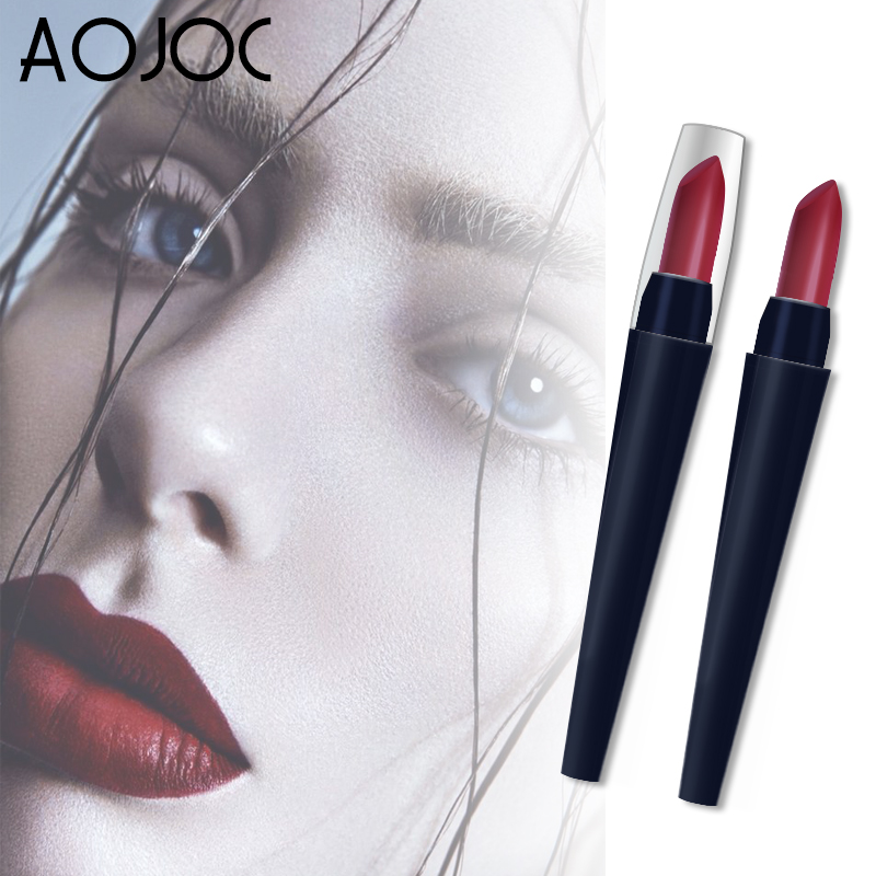 Aojoc Brand Make Up <font><b>set</b></font> Waterproof matt <font><b>Lipstick</b></font> Long Lasting <font><b>Lipsticks</b></font> Matte Lip Gloss korean Cosmetics <font><b>Mate</b></font> Lips Makeup nude image