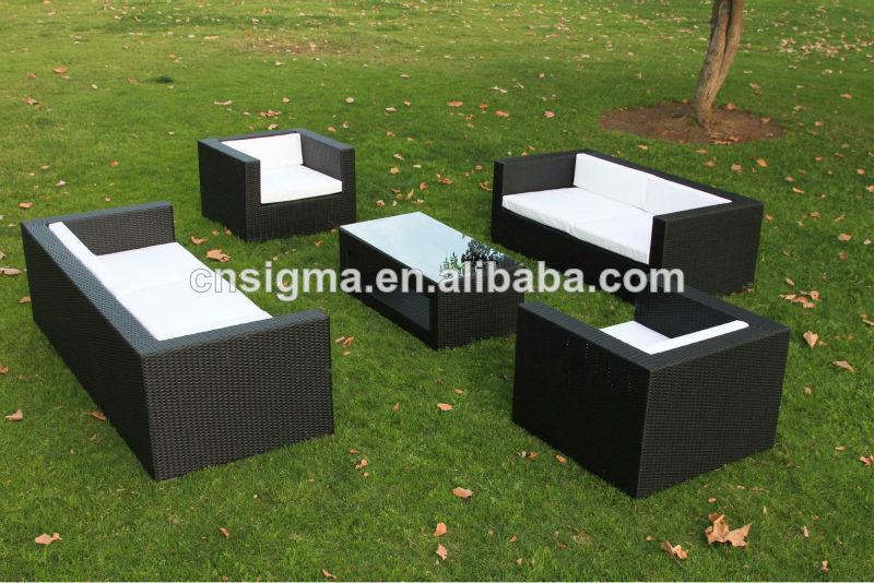 barato nuevo diseo de muebles de mimbre al aire libre sof