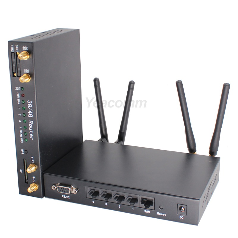 Low cost high speed CAT4 R340 Series Dual sim LTE bus WI FI 4G router for