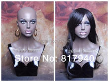 High quality Fiberglass Realistic mannequin dummy head,mannequins display,wigs & hat glass  jewelry head display
