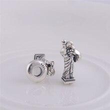 2014 nueva moda 925 encantos de la plata esterlina libertad de los granos con rosca, encajar pulsera de Pandora para mujeres joyería de DIY LW085