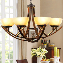 Factory direct American country chandelier living room bedroom Iron Chandelier Home Place Hotel Restaurant lamps