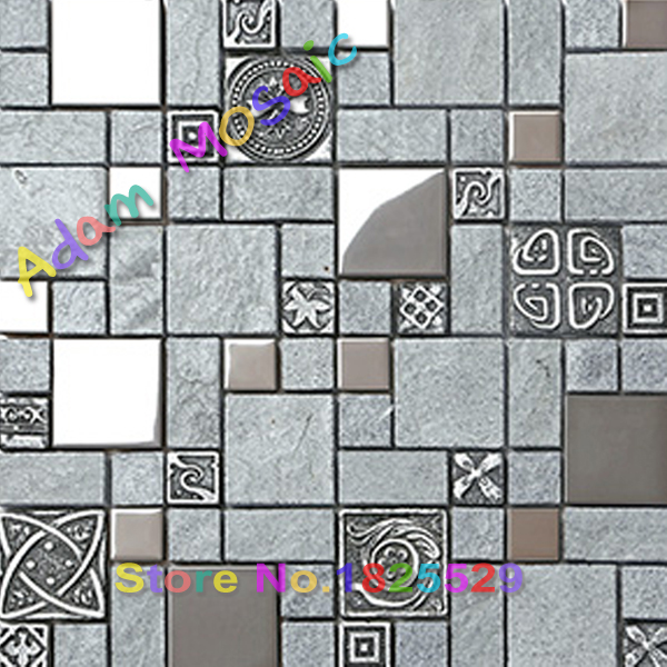 Szare Płytki Ceramiczne Płytki ścienne Mozaiki łazienka