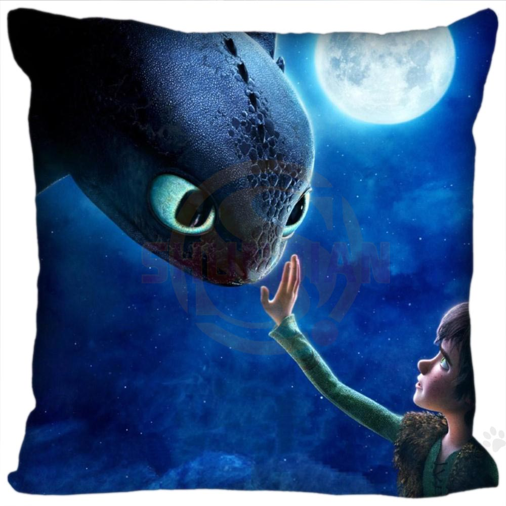 New Hot Custom Pillowcase How To Train Your Dragon Soft 35x35cm 40x40cm (One Side) Pillow Cover Zippered