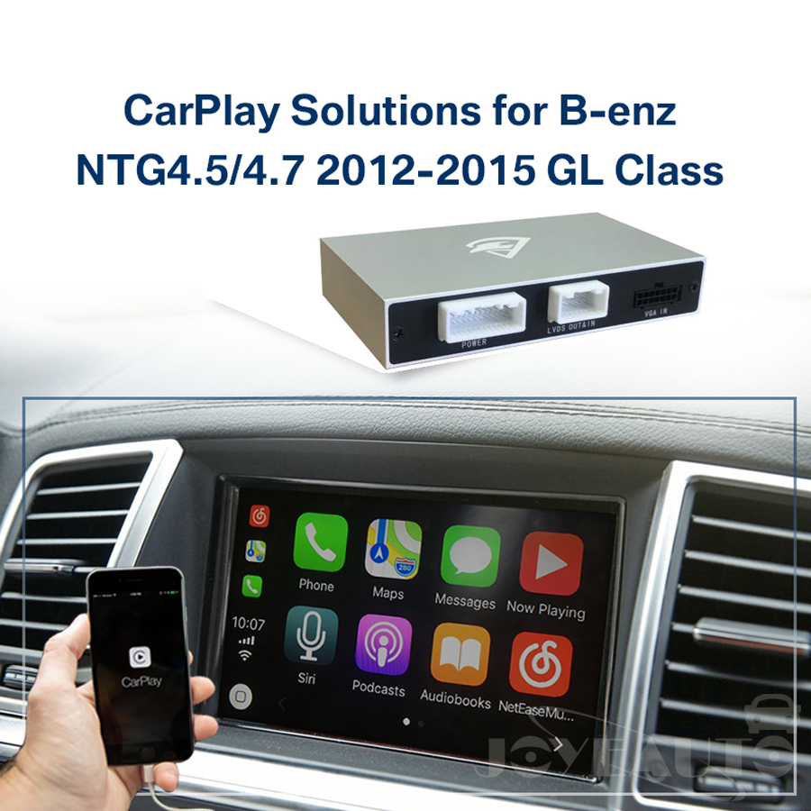 US $329 25 25% OFF|ZHOYITO Aftermarket Mercedes GL class X166 2012 2015  NTG4 5/NTG4 7 Apple Carplay Android Auto box Retrofit with Rear View  Camera-in