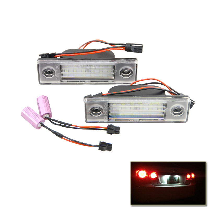 Canbus No Error Led Number License Plate Lights Lamp For Chevrolet Cruze 09-Up Vehicles Auto White Rear Tail Lamps Bulb auto car led number license plate lights lamp bulb car styling xenon white for mitsubishi asx vehicles tail rear lamp