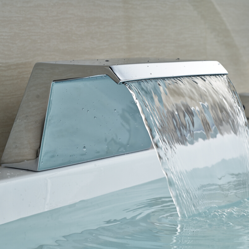 Luxury Waterfall Bathroom Spout Deck