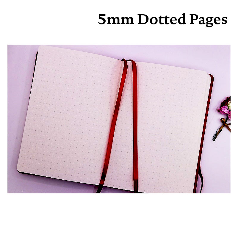 Dot Grid PU Bullet Notebook Dots Travel Diary Dotted Journal Bujo