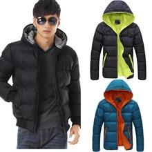 2016 бесплатная доставка новые короткие куртки с капюшоном проложенный хлопка куртка мужчины холодно