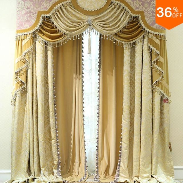 Nice Curtains master bedroom curtains pinterest home design ideas for bay window Nice Golden Shutters With Valance Beads The Classical Curtains For Windows Extreme Luxury Drapes Finish Curtains