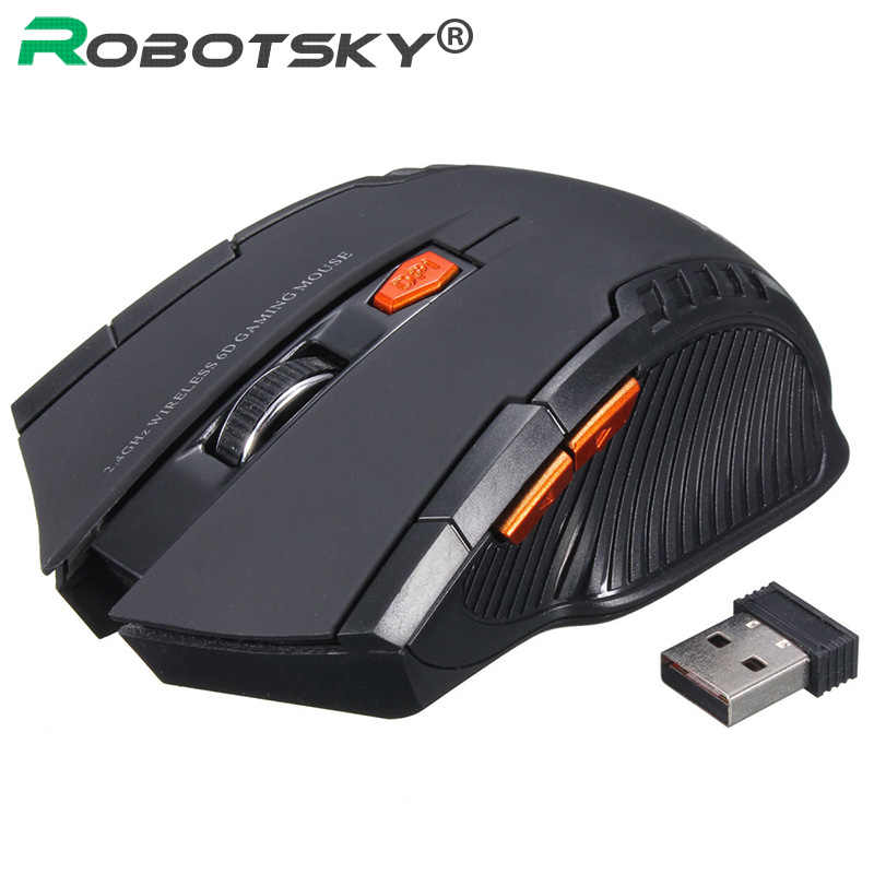 Mouse ottico Wireless da 2.4GHz Gamer nuovo gioco Mouse Wireless con ricevitore USB Mause per laptop da gioco per PC