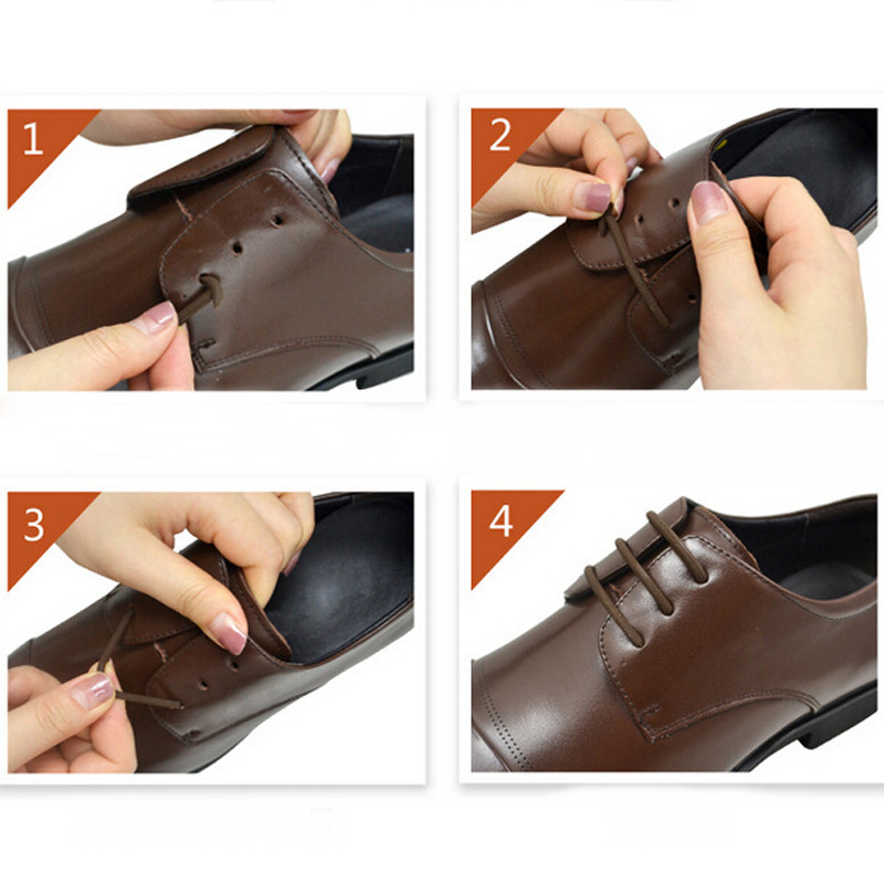 12 Piece Set 3cm 4cm 5cm 6cm Size Men Womens Leather Shoes Lazy Tieless Lace Elastic Silicone Shoes Lace Suitable Free Shipping