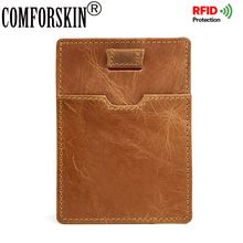 COMFORSKIN New Arrivals RFID Protection Ultra Thin Men Credit Card Holder Genuine Leather Brand Hot Style Man Wallets 2018