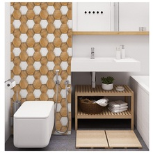 3D stereo tile stickers Decorative anti-collision PVC wall for mildew, anti-mite, anti-fouling