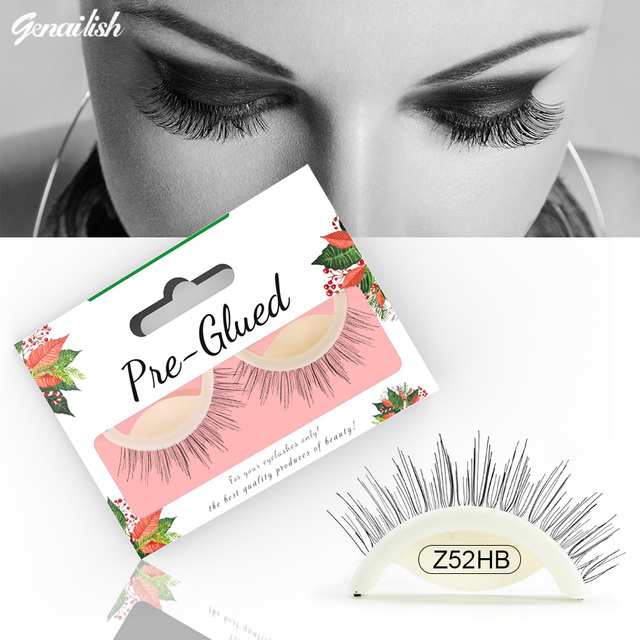 Aliexpress Buy Genailish 1 Pair Synthetic Self Adhesive 3d False Eyelashes No Glue Required Reusable Lashes Wispy Fluffy Eye Makeup Z52hb From