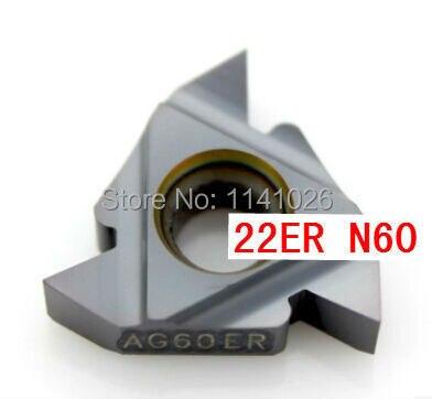 22ER N60 Carbide Threading Inserts 60degree External Threading Insert Indexable Lathe Insert for Threaded Lathe Holder