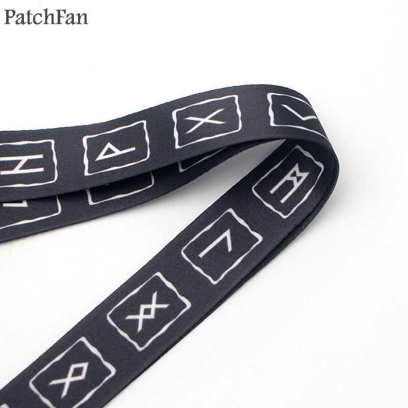 Patchfan di Nuovo modo Norse vichinghi portachiavi keychain della cordicella della tessitura del nastro del collo cinghia para id badge titolari del telefono collana A1474