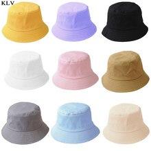 Sombrero de cubo plegable de verano para niños y adultos de estilo coreano, Color sólido, estilo Hip Hop, ala ancha, protección UV para la playa, tapa de pescador con protector solar redondo