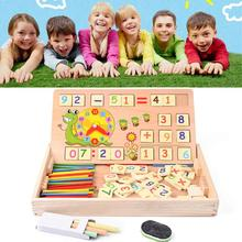 Cheapest prices Baby Toys  Kids Wooden Digital Box Mathematics Counting Learning Educational Toys with Wooden Box  for Children Gift