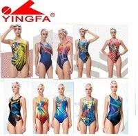 Yingfa 2016 Swimwear Women Swimsuits Kids Racing Kids Competitive Swimsuit Girls Training Competition Swim Suit Professional