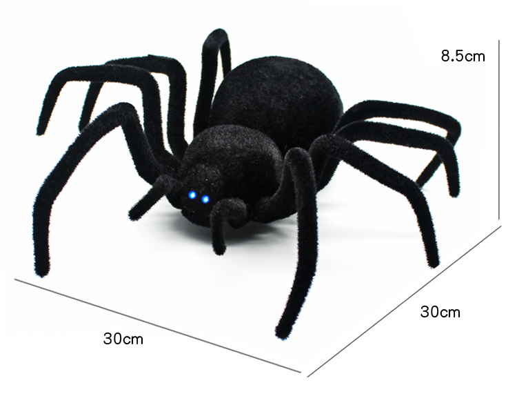 Radio Remote Control Realistic Fake Insect RC Insect Bug RC Prank Toys Insects Joke Scary Trick Spider - Black 4 Channels dont bug the insects