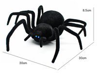 Radio Remote Control Realistic Fake Insect RC Insect Bug RC Prank Toys Insects Joke Scary Trick Spider Black 4 Channels