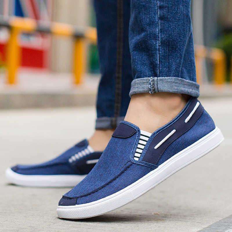 Брендовая мужская обувь; джинсовая мужская парусиновая обувь; модная мужская повседневная обувь; слипоны; лоферы на плоской подошве; дышащая обувь; мужские кроссовки