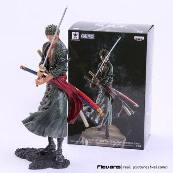 Anime una pieza creador X creador Roronoa Zoro PVC figura de acción de colección modelo de juguete 20 cm 2 colores