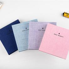 100 Pockets 3 Inch Mini Photo Album Cotton Cover Cards Holder Tickets Collection for Fuji Instax 9/8/8+/7s/50s/90/LiPlay