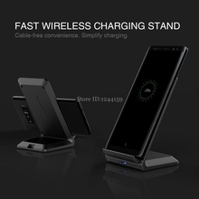 NILLKIN QI Fast Stand Wireless Charging 9V 1.7A/5V 2A High Quality Phone Fast Wireless Charger For Samsung for Xiaomi for Huawei