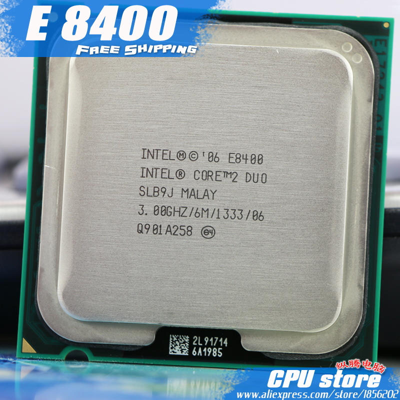 Intel Core 2 Duo E8400 CPU Processor (3.0Ghz/ 6M /1333GHz) Dual-Core Socket 775 (working 100% )  sell E8500 E8600(China)